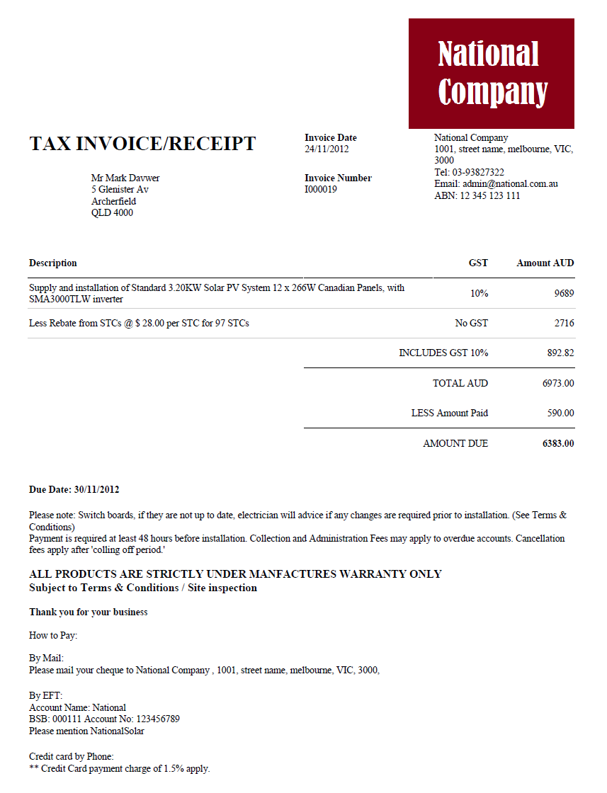 Aaaaeroincus  Outstanding Invoice  Solar Ecrm With Gorgeous Invoice With Adorable Australia Post Receipted Delivery Also Indian Receipt In Addition What You Can Claim On Tax Without Receipts And Deposit Receipt Template Free As Well As Receipt At Depot Additionally Custom Receipt Pads From Solarecrmcom With Aaaaeroincus  Gorgeous Invoice  Solar Ecrm With Adorable Invoice And Outstanding Australia Post Receipted Delivery Also Indian Receipt In Addition What You Can Claim On Tax Without Receipts From Solarecrmcom