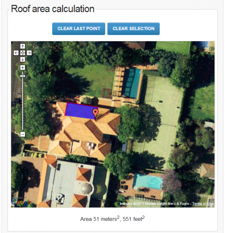 roof area calculator
